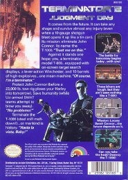 Terminator 2 Judgment Day NES (back US)