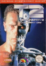 Terminator 2 Judgment Day NES (front EU)